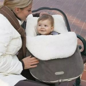 Bundleme Infant Gray Fleece Sherpa Carseat Cover